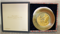 The Caesar Rodney Official 1975 Bicentennial Commemorative Plate   (Franklin Mint, 1975)