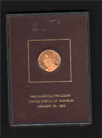 The Dwight D. Eisenhower Inaugural Commemorative Gold Medal   (Franklin Mint, 1978)