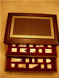 The Flags of Royalty Ingots Collection  (Franklin Mint, 1977)