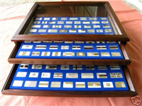 The Flags of the United Nations Ingot Collection  (Franklin Mint, 1974)