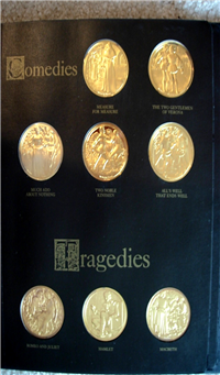 The Royal Shakespeare Theater Presents The Great Plays of Shakespeare Medals Collection  (Franklin Mint, 1972)