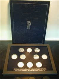 The Indian Tribal Nations Series Medals Collection    (Franklin Mint, 1972-1976)