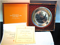 "Franklin Mint  1977 Thanksgiving Plate, ""An Old Fashioned Thanksgiving"" by Norman Rockwell"