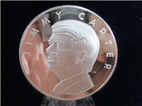 The Official Jimmy Carter Presidential Inaugural Medal  (Franklin Mint, 1977)