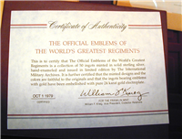 Franklin Mint International Military Archives The Official Emblems of the World