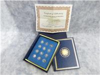 Gilroy Roberts Treasury of Zodiac Mini-Coin Proof Medals (Franklin Mint, 1970)