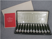 The 12 Twelve Days of Christmas Limited Edition Spoons Set  (Franklin Mint, 1972)