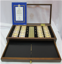 HOUSE OF FABERGE IMPERIAL 36 Piece Dominoes Set With Case (Franklin Mint)
