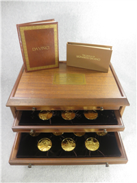 The Genius of Leonardo Da Vinci Medals Collection (Franklin Mint, Gold-plated 51mm medals, 1975)