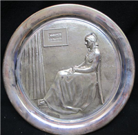 Mothers Day Series Whistler's Mother Limited Edition Sterling Silver Plate  (Geo. Washington Mint, 1972)