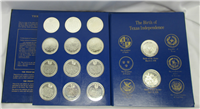 The Texas Under Six Flags Sterling Silver Medals Collection   (Texas Medallions Corporation, 1969)